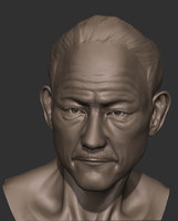 3d bust old man model