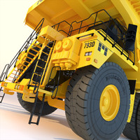 3d mining rigid dumptruck model