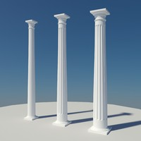 colonial doric column 3ds