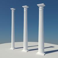 colonial doric column 3ds