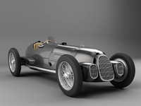 Black old alfa romeo - racing car