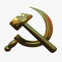 3dsmax soviet hammer sickle