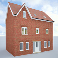 3d english house model