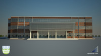3d industrial building v2 model