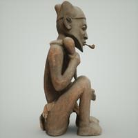 3d statue man model