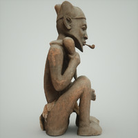 dxf statue man dogon