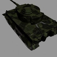 3d german wwii tank tracks model