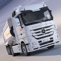 3d mercedes actros dumper model