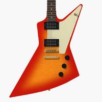 3d gibson explorer guitar model