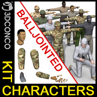 3ds kit characters soldiers insurgents