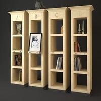 3d chelini bookcase 5020