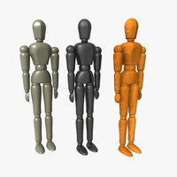 dummy body biped 3d obj