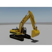 3ds max excavator bulldozer industrial