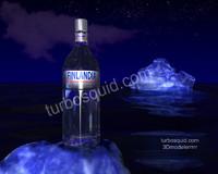 obj finlandia vodka iceberg scene