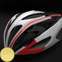 3d model bell alcherra racing bike helmet