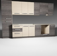 kitchen furnitures pack 1 model 02 without accessories.