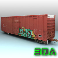 Railroad boxcar A405 NS