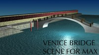 Italian Venice Bridge Scene