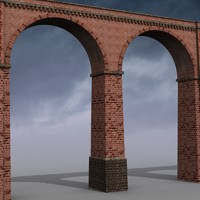 old aqueduct bridge 3d max