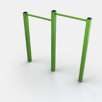 3d outdoor exercise bars