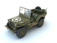 willys army jeep 3d max