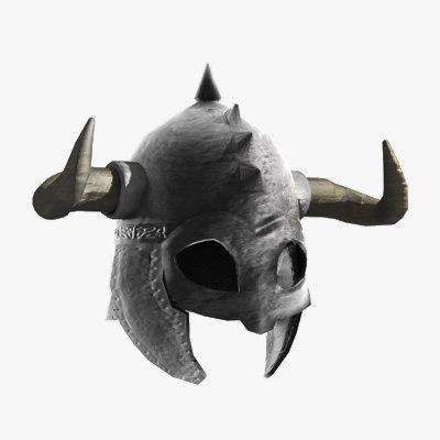 Medieval Helmet Horns Horned Helmet Fbx