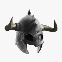 horned helmet fbx