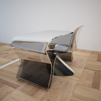 Glassy Table & Chair