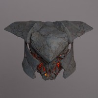 medieval warrior head 3d model