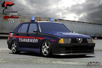 3dsmax alfa romeo 75 carabinieri
