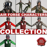 air force characters static 3d model