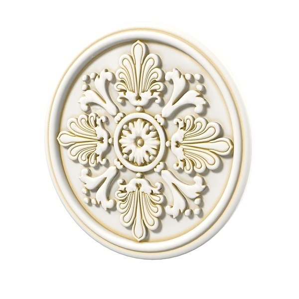 Ceiling plaster rose medallion decorative element rosette decor 0001.jpg