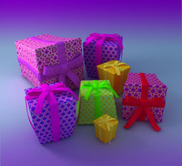 gift boxes 3d max