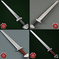 viking swords 3d model