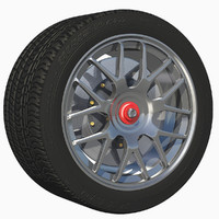 3d model of wheel finish sport rim