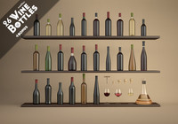 26 Wine Bottles 3D kit