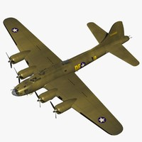 3d model b17 memphis belle