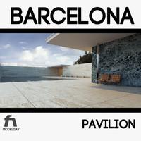 3d barcelona pavilion mies van model
