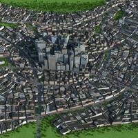 city skyscraper cityscape 3d model