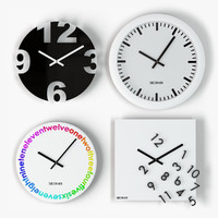 3d design wall clock model
