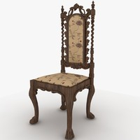 chair antique 3d max