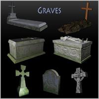 3d model cemetery