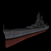 battle ship 3d max