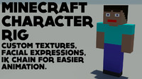 Minecraft character rig