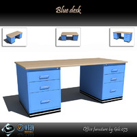 blue desk dwg