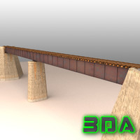 Rail bridge girder