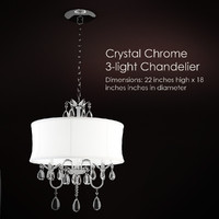 crystal chrome 3-light 3d model
