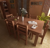 3d kitchen living table