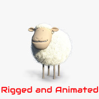 cartoon sheep animation character 3d ma