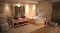 3d bathroom room bath model